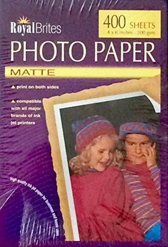 Royal Brites Photo Paper - 400 4 x 6 Matte
