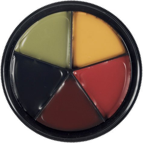 [Mehron Makeup 5 Color Bruise Wheel] (Special Effects Makeup Kit)