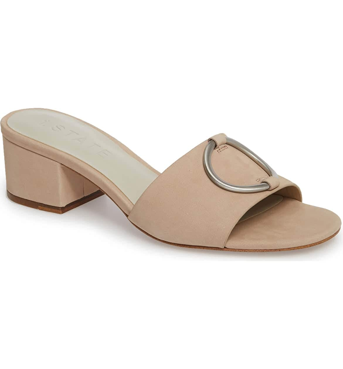 Cipria Sonoma Leather 1.STATE Womens JACALE Slide Sandal