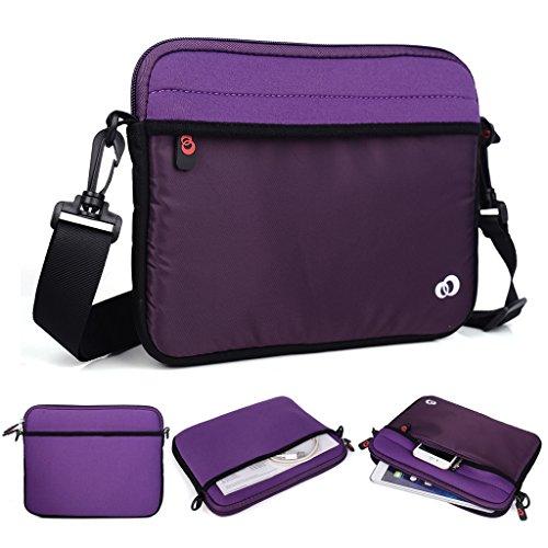 Kroo Tablet/Laptop Hülle Sleeve Case mit Schultergurt für Asus MeMO Pad HD 7(ME173X) grün blaugrün violett bsCWP