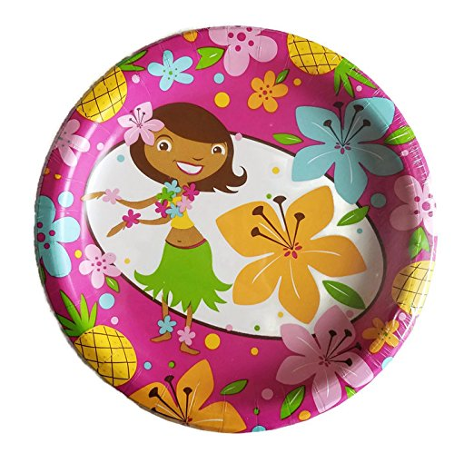 Birthday Party Supplies for Girls Includes Paper Plates Napkins Tablecloth and Treat Bags Service for 8 Guests