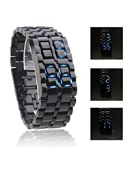 mens watches top brand Blue LED Lava Style Digital Plastic Band bracelet bangles ladies watches woman
