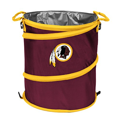 Logo Brands 632-35 NFL 3-in-1 Cooler, 10-14 gal (Redskins Trash Can)