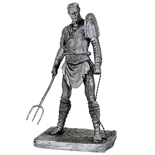 Gladiator Retiary. Metal Sculpture. Collection 75mm 1 23 Miniature Figurine. Tin Toy Soldiers