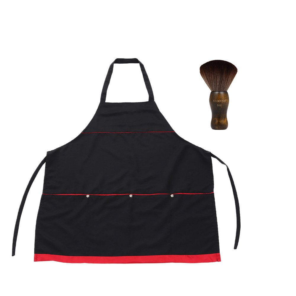 Anself Hairdressing Workwear Barber Haircut Apron + Barber Neck Duster Hair Cutting Brush