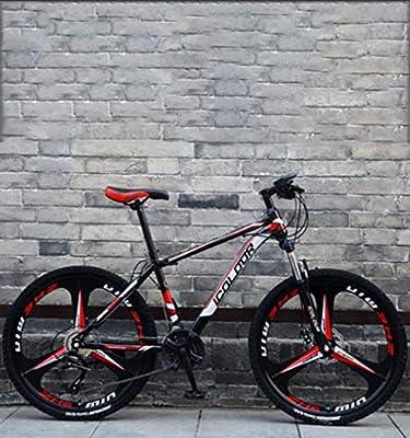 AISHFP 26 Pulgadas de Bicicletas de montaña, Doble Freno de Disco ...