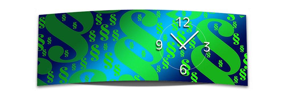 Wall Clock Xxl Paragraph 30x90 Cm Quiet Mechanism Gl 010 3d Look