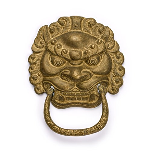 (Gnashing Teeth Lion Door Pull 6.1'' - Set of 2)