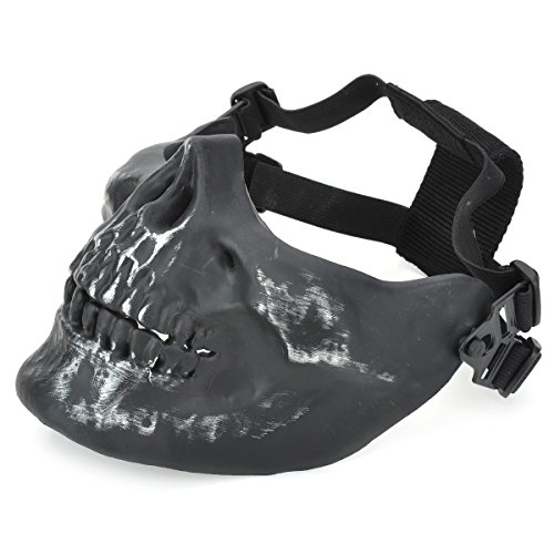 OLSUS Outdoor Sports Half Face Skull Mask Striker Steel Airsoft Mask Lower Face Mask by OLSUS