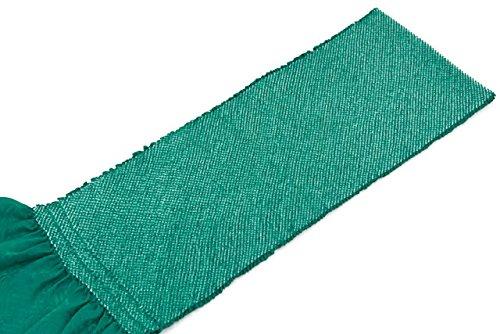 帯揚げ 孔雀色 グリーン 正絹 四つ巻 無地 総絞り 鹿の子 帯あげ おびあげ 成人式向き 振袖向き ふりそで