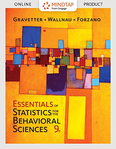 MindTap Psychology for Gravetter/Wallnau/Forzano's Essentials of Statistics for the Behavioral Sciences, 9th Edition by Cengage Learning