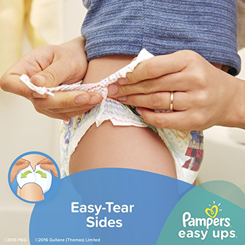 Large Product Image of Pampers Easy Ups Training Pants Pull On Disposable Diapers for Boys Size 5 (3T-4T), 72 Count, SUPER