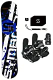 snowboard package - 150-155-160-163cm Symbolic 369 Men's Rocker Snowboard & Bindings Package (Bindings Black L/XL (fits 9-14 men), 160cm)