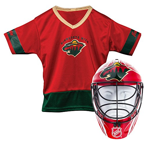 Halloween Costumes Mn (Franklin Sports Minnesota Wild Kid's Hockey Costume Set - Youth Jersey & Goalie Mask - Halloween Fan Outfit - NHL Official Licensed)