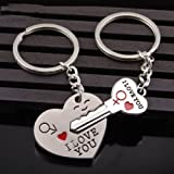 Best GENERIC Wedding Ring Sets - Couple Gift Heart Key Keychain Keyring Set Valentines'day Review