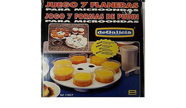 PLASTICOS DE GALICIA Juego 7 FLANERAS para MICROONDAS: Amazon.es ...
