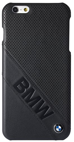 BMW BMHCP6LLDLB Slanted Logo Hülle für Apple iPhone 6 Plus/6S Plus schwarz