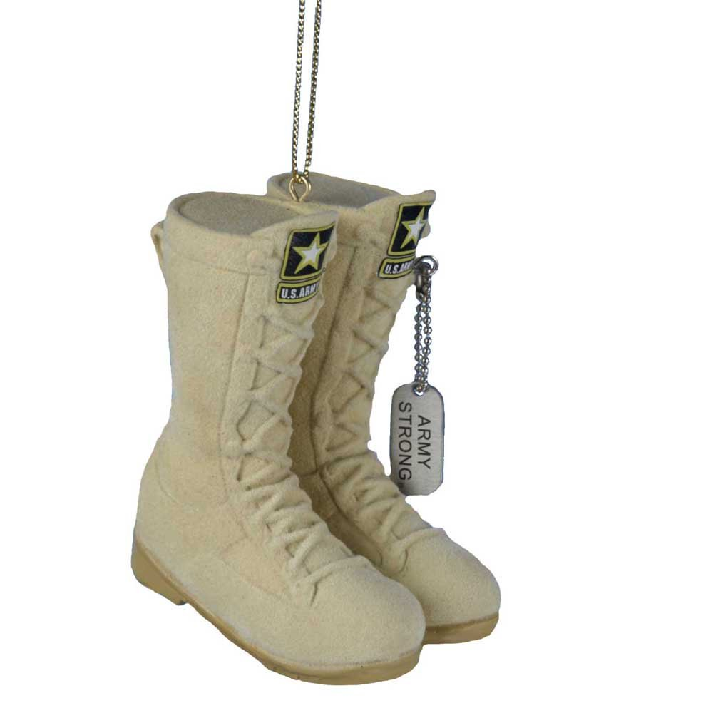 Army Desert Combat Boot Christmas Ornament 3