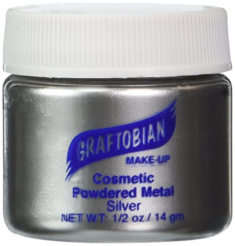 Graftobian Powdered Metal - Silver (0.5 oz) by Graftobian