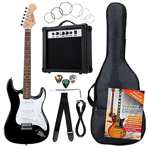 Rocktile 19331 – Pack guitarra eléctrica Banger 7 piezas, color negro