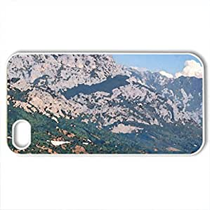 road to dubrovnik - Case Cover for iPhone 4 and 4s (Mountains Series, Watercolor style, White)