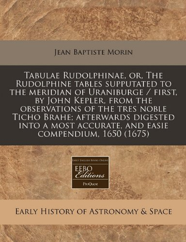 rudolphine tables - 1