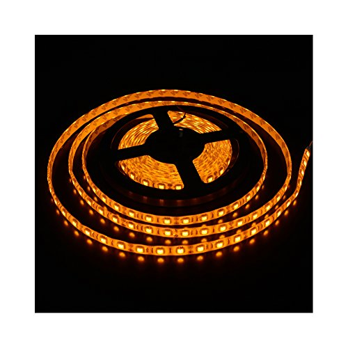 Face Inch Counter (elcPark 5m 16.4ft 5050 SMD 300LED Flexible LED Light Strip Waterproof IP65 Yellow 12V 6V 72W ¡­)