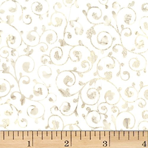 Scroll Oyster - Hoffman Bali Batiks Scroll Oyster Fabric By The Yard
