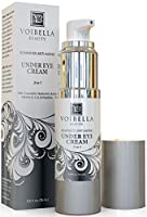 Natural Anti-Aging Under Eye Cream, Best 3-in-1 Treatment For Dark Circles, Puffy Eyes, Bags & Wrinkles - Firming, Brightening & Hydrating - Cucumber, Collagen, Hyaluronic Acid, Retinol, Vitamin C & E