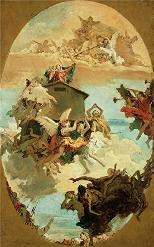 'The Miracle of the Holy House of Loreto, about 1744 By Giovanni Battista Tiepolo' oil painting, 10x16 inch / 25x41 cm ,printed on Perfect effect Canvas ,this Vivid Art Decorative Canvas Prints is perfectly suitalbe for Laundry Room decor and Home gallery art and Gifts (10 Laundry Pedestal compare prices)