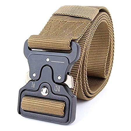 Brown,One Size QINGDs Mens Outdoor Military Training Tactical Belt Canvas Buckle Belt Casual Waistband Web Belt Strap