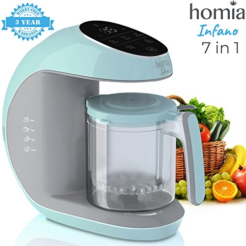 Baby Food Maker Chopper Grinder - Mills and Steamer 7 in 1 Processor For Toddlers With Steam, Blend, Chop, Disinfect, Clean Function, 20 Oz Tritan Stirring Cup, Touch Control Panel, Auto Shut-Off