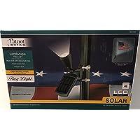 Patriot Lighting Solar Powered Flagpole Flag Light Super Bright 240 Lux