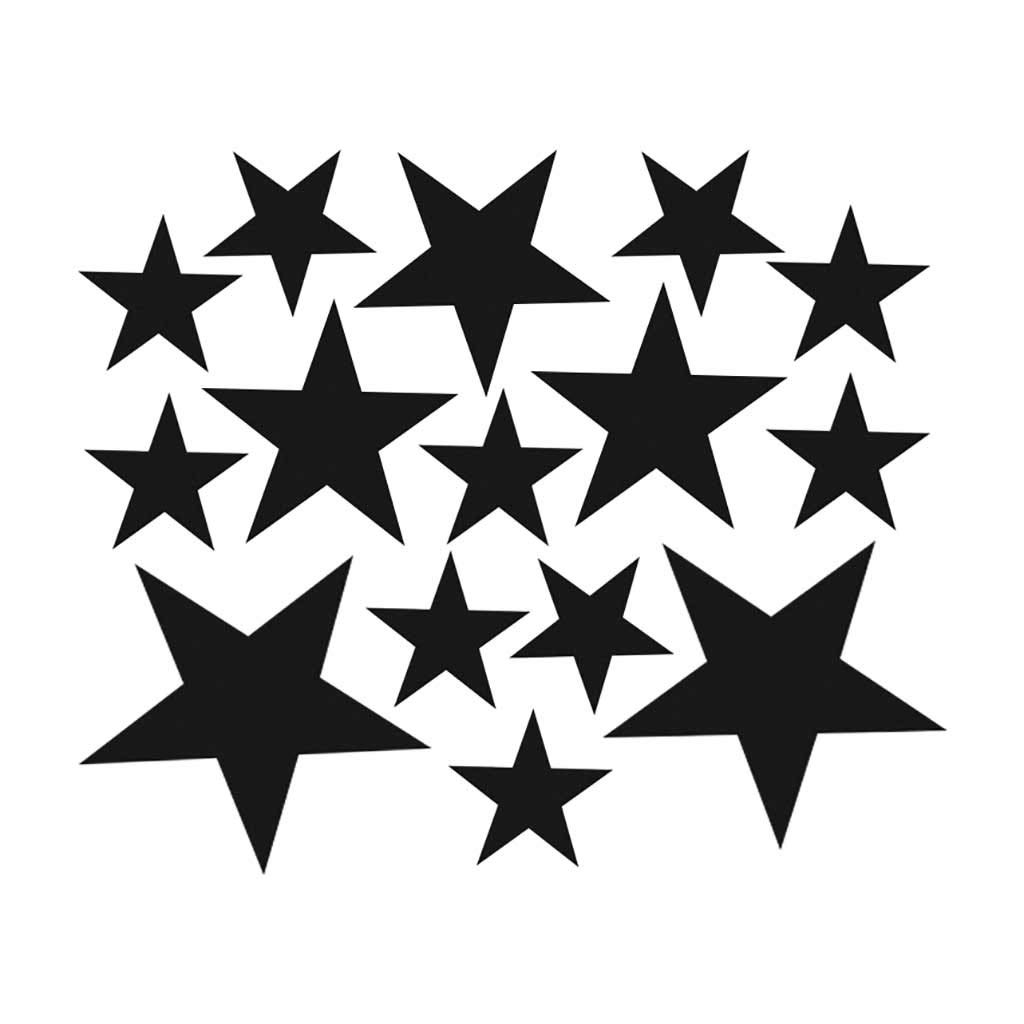 Cyhulu Creative Removable Window Wall Decal, New Fashion 110Pcs Star Mural Stickers Vinyl for Home Bedroom Living Room DIY Art Decoration, 4 Color Available (Black, One size)