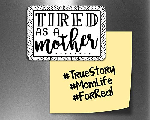Funny Fridge Magnets, Tired as a Mother Refrigerator Magnets with Quotes, Funny Kitchen Decor Noticeboard Office Supplies, Best Housewarming Home Decorations Gift