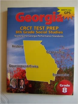 Georgia Crct Test Prep Th Grade Georgia Studies Glen Blankenship - Georgia map test
