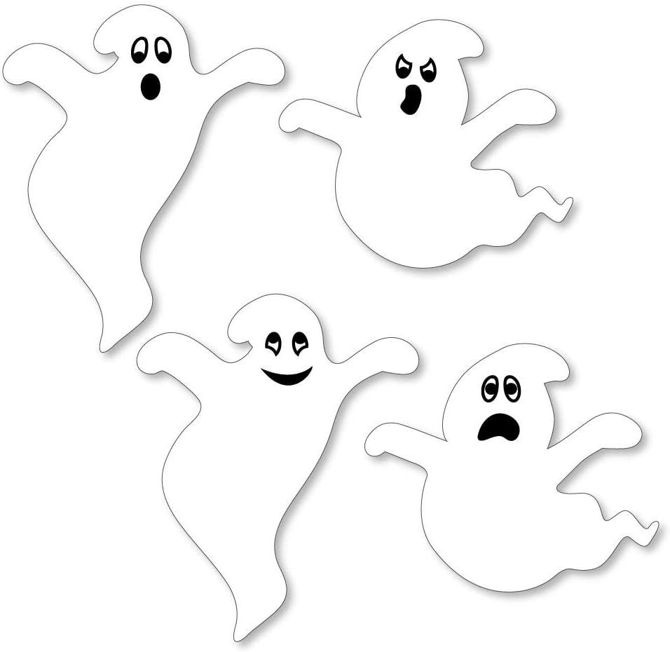 Halloween Ghost 24 PCS Ghost Die Cut Felt Shapes Halloween Felt Shapes,DIY