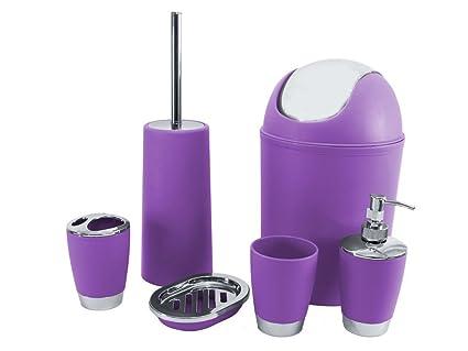 Sq professional set di accessori per il bagno colore viola 6 pezzi