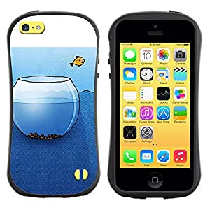 LASTONE PHONE CASE / Suave Silicona Caso Carcasa de Caucho Funda para Apple Iphone 5C / Metaphor Art Deep Freedom Liberty