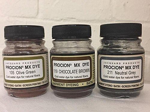 Fiber Reactive Dye Set - Earth Tones (Fiber Dye)