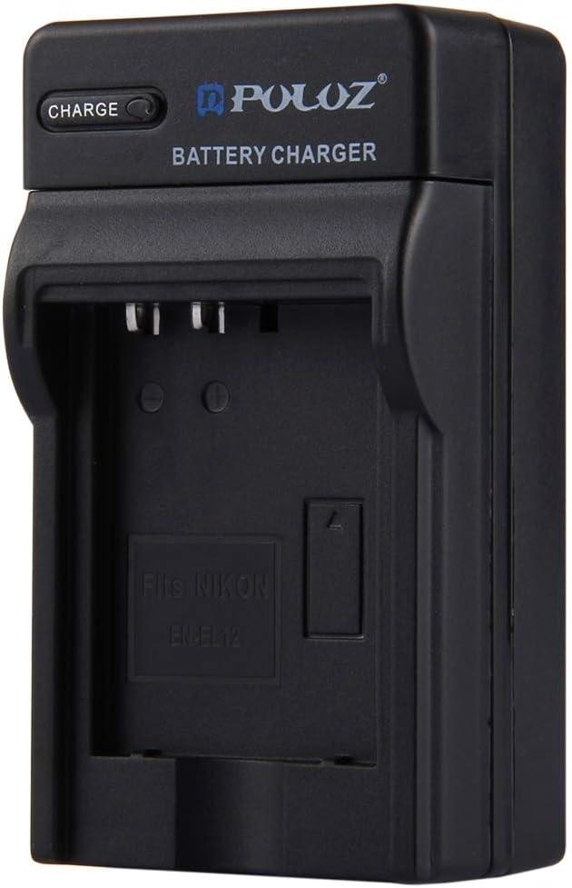 8.54.73.8cm Durable Perfect Home 100-240V US Plug Battery Charger for Nikon EN-EL12 Battery,Size