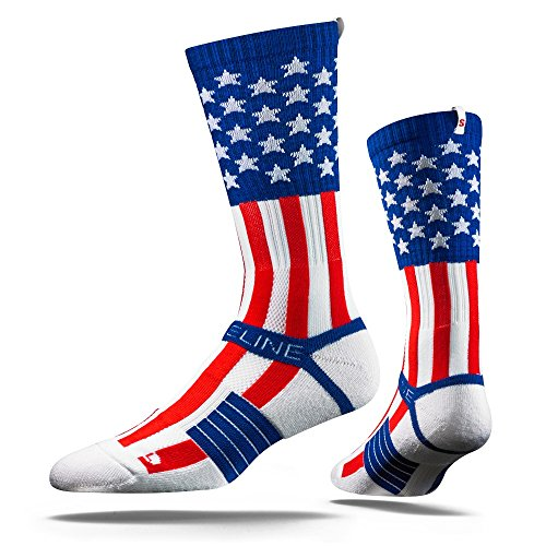 Strideline Uncle Sam USA Adult Crew Socks