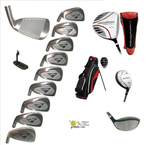 AGXGOLF: Men's Left Hand Magnum Tour Compitition Edition Golf Club Set; w/OverSize Graphite Shaft Driver, 3 & 5 Woods: Callaway Style Irons Cadet Regular or Tall Length; Free Putter
