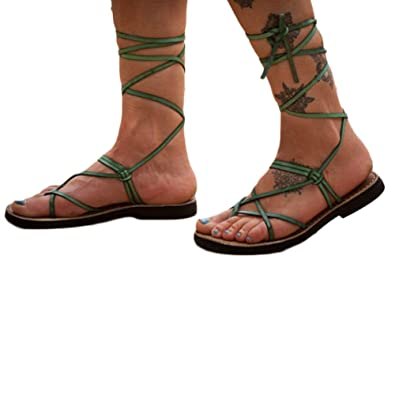 Aelegant Damen Sommer Zehentrenne Schuhe Dicker abfallender Absatz Elegant Sommerschuhe Strandschuhe Atmungsaktive Sohle Rutschfest LD7Fj8k