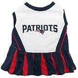 Pets First NFL New England Patriots Dog Cheerleader Dress, Medium