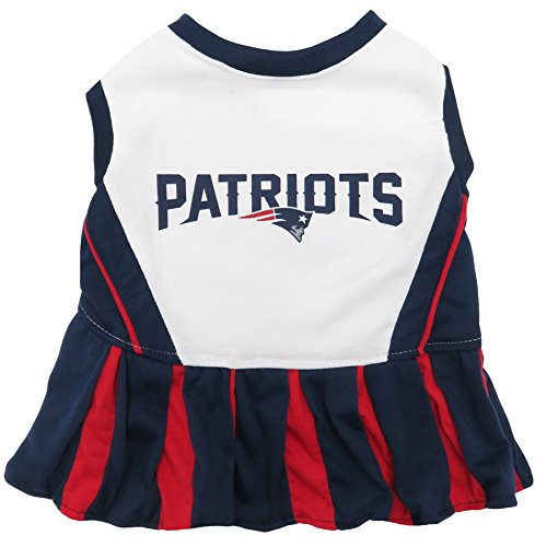 Pets First New England Patriots Pet Cheerleader Uniform Small