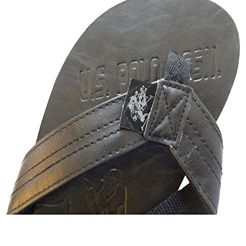 Oss Polo Assn. Menns Premium Sandaler Grand Lær Flip Flops Thongs Bred Fulle Kutt Flip Flop