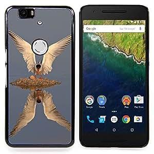 """For Huawei Google Nexus 6P Case , Peces Aves Gull Wings Reflexión Plumas"""" - Diseño Patrón Teléfono Caso Cubierta Case Bumper Duro Protección Case Cover Funda"""