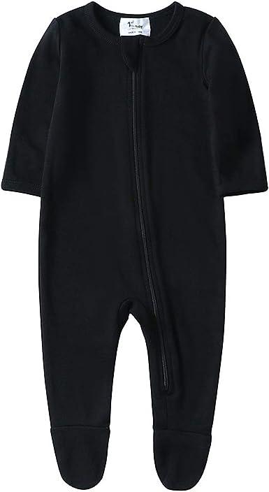 Baby Boys Footed Pajamas Organic Cotton Zip Front Sleep and Play Long Sleeve Sleeper