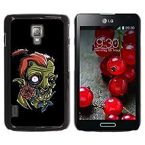 PC/Aluminum Funda Carcasa protectora para LG Optimus L7 II P710 / L7X P714 Cute Funny Orc / JUSTGO PHONE PROTECTOR